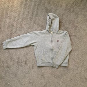 vintage grey fila jacket